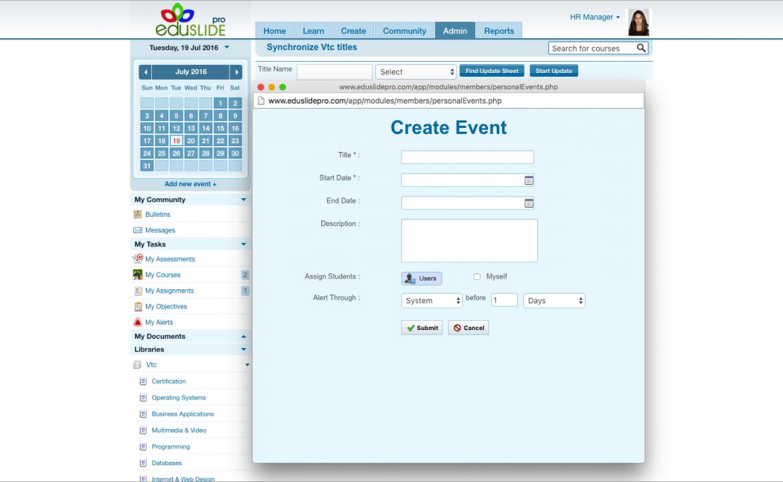 web app event