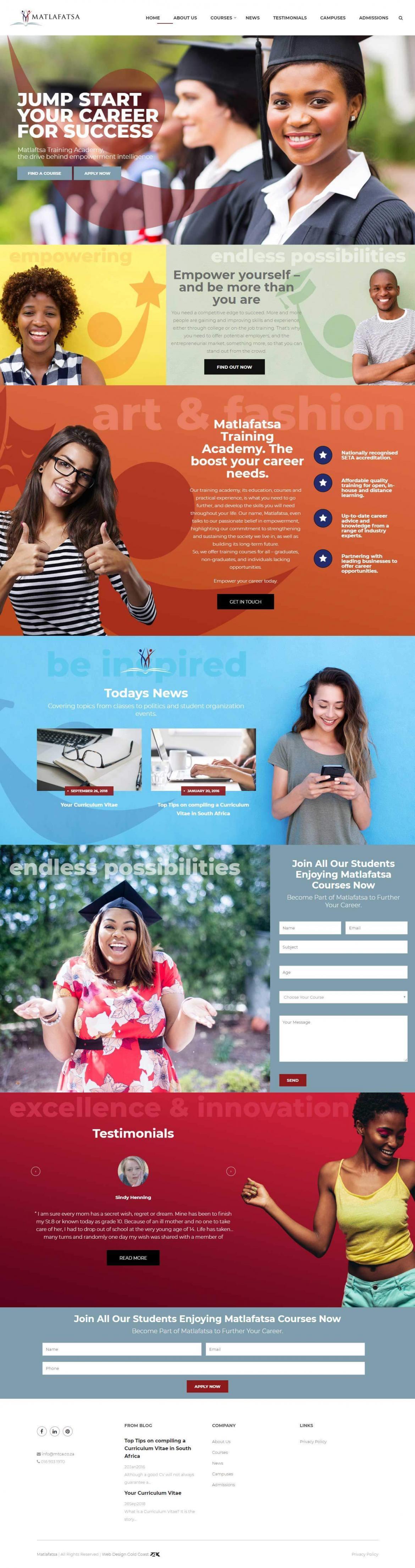 Matlafatsa website - Talk Digital