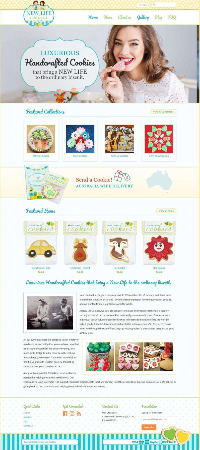 New Life Cookies Home Page