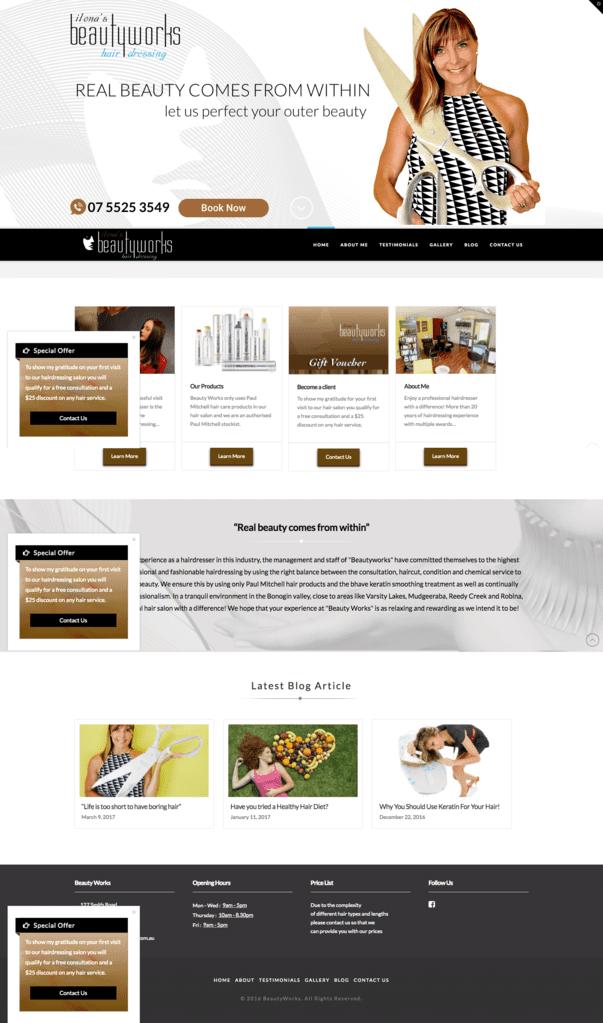 Beautyworks Home Page
