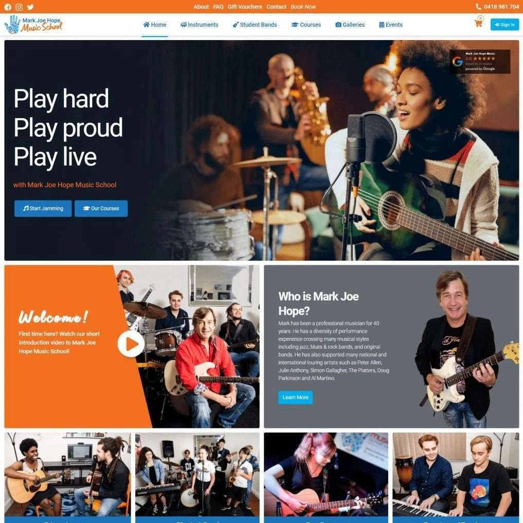 Mark Joe Hope Music School Brisbane