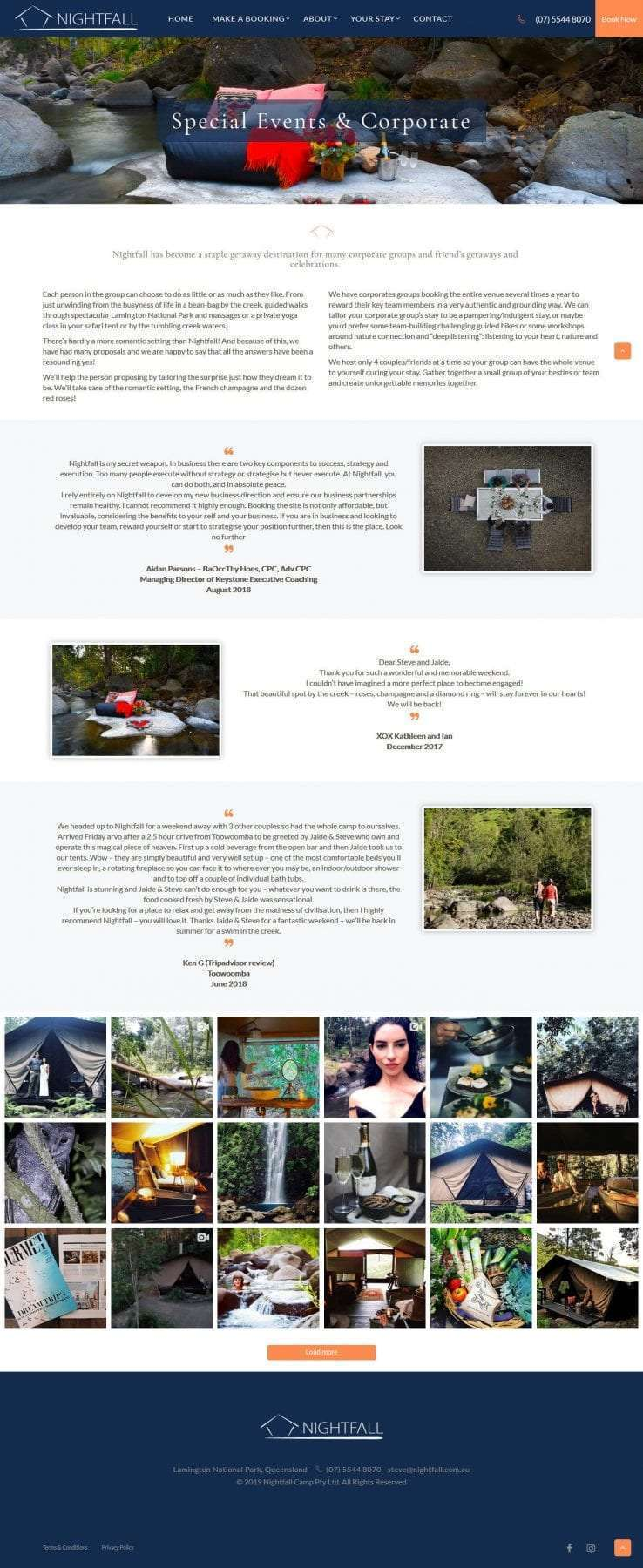 Nightfall events page